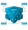 abstract 3d cube isolated infographic vector image vector image
