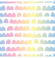abstract horizontal kids shapes rainbow colors vector image
