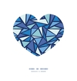 abstract ice chrystals heart silhouette pattern vector image vector image