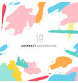 abstract shapes art pattern pastels color vector image vector image