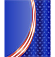 american flag symbol wave pattern background vector image vector image