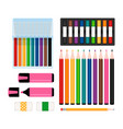 art tools collection vector image vector image