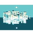 Asian City set vector image vector image