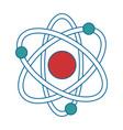 atom molecule isolated icon vector image vector image