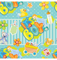 baby boy pattern vector image