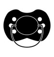 baby pacifier the black color icon vector image vector image