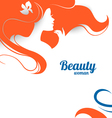 beautiful fashion woman silhouette paper design vector image