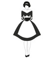 beautiful housewife dressed in style the vector image vector image