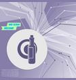 beer wine bottle on purple abstract modern vector image vector image