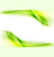 bright green smooth liquid waves abstract shiny vector image vector image