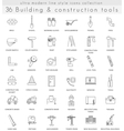 Building Construction ultra modern outline vector image vector image