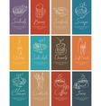 business cards with food and drink vector image vector image