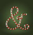 Candy cane abc ampersand