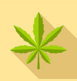 cannabis leaf icon flat style vector image