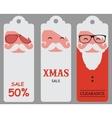 Christmas hipster santa sale tags vector image