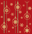 christmas seamless pattern with decorative balls vector image vector image