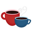 coffee cups drinks icons vector image