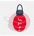 colorful oriental lantern isometric icon vector image