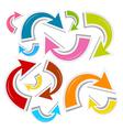 Colorful Paper Arrows Set vector image vector image
