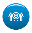 company target icon blue vector image vector image