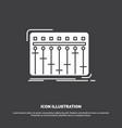 console dj mixer music studio icon glyph symbol vector image