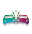 crashed cars sign colorful icon with vector image