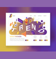 creative trends 2019 year landing page template vector image