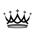 crown icon on white background vector image