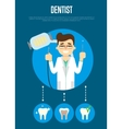 Dental banner with male dentist vector image vector image