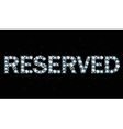 Diamond word reserved vector image vector image