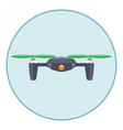 Digital silver drone with recording camera vector image