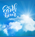 earth hour template for poster with handdrawn vector image