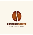 Eastern Coffee Abstract Cafe Logo Template vector image
