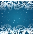 frame of frosty pattern vector image vector image