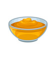 glass bowl with sweet honey fresh and natural vector image