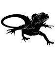 graphic silhouette of a baby iguana vector image