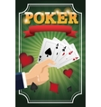 Hand and Cards of Poker design vector image vector image