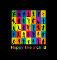 happy like a child concept vector image