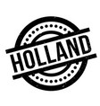 holland rubber stamp vector image