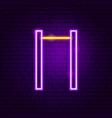 horizontal bar neon sign vector image vector image