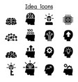 idea creative icon set vector image