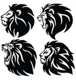 lion logo set premium design icons vector image vector image