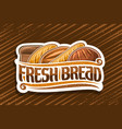 logo for fresh bread vector image