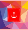 nautical card with anchor on flat wrapping surface vector image vector image