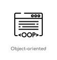 outline object-oriented programming icon isolated vector image vector image