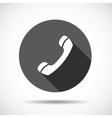 Phone Flat Icon with long Shadow vector image vector image