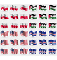 Poland Palestine USA Cape Verde Set of 36 flags of vector image vector image