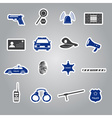 police stickers set eps10 vector image