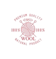 Premium Quality Wool Product Logo Design vector image vector image