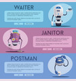 robot characters technology future vector image vector image